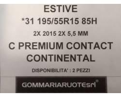 GOMME ESTIVE USATE CONTINENTAL 195/55 R15 1955515 195 55 15 195/55 R15 PNEUMATICI USATI