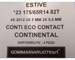 GOMME ESTIVE USATE CONTINENTAL 175/65 R14 1756514 175 65 14 175/65 R14 PNEUMATICI USATI