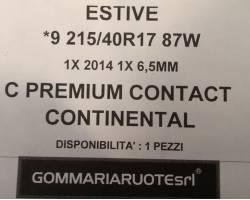 GOMME ESTIVE USATE CONTINENTAL 215/40 R17 2154017 215 40 17 215/40 R17 PNEUMATICI USATI