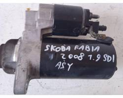 Motorino d' avviamento SKODA Fabia Berlina 2° Serie