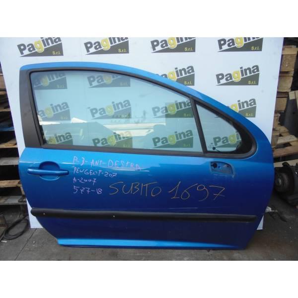 PORTIERA ANTERIORE DESTRA PEUGEOT 207 1° Serie Diesel (2007) RICAMBI USATI