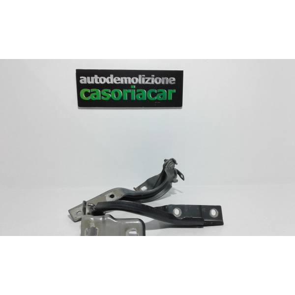CERNIERE COFANO ANTERIORE DX E SX FIAT 500 X Serie (15>) 1600 Diesel (2017) RICAMBI USATI