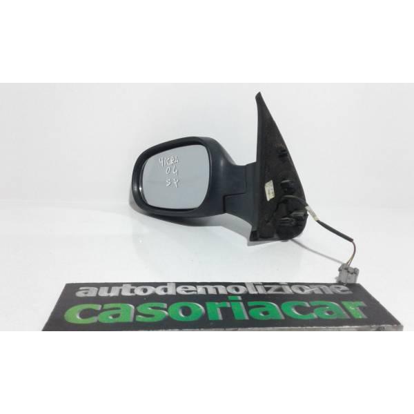 SPECCHIETTO RETROVISORE SINISTRO NISSAN Micra 4° Serie Benzina (2004) RICAMBI USATI
