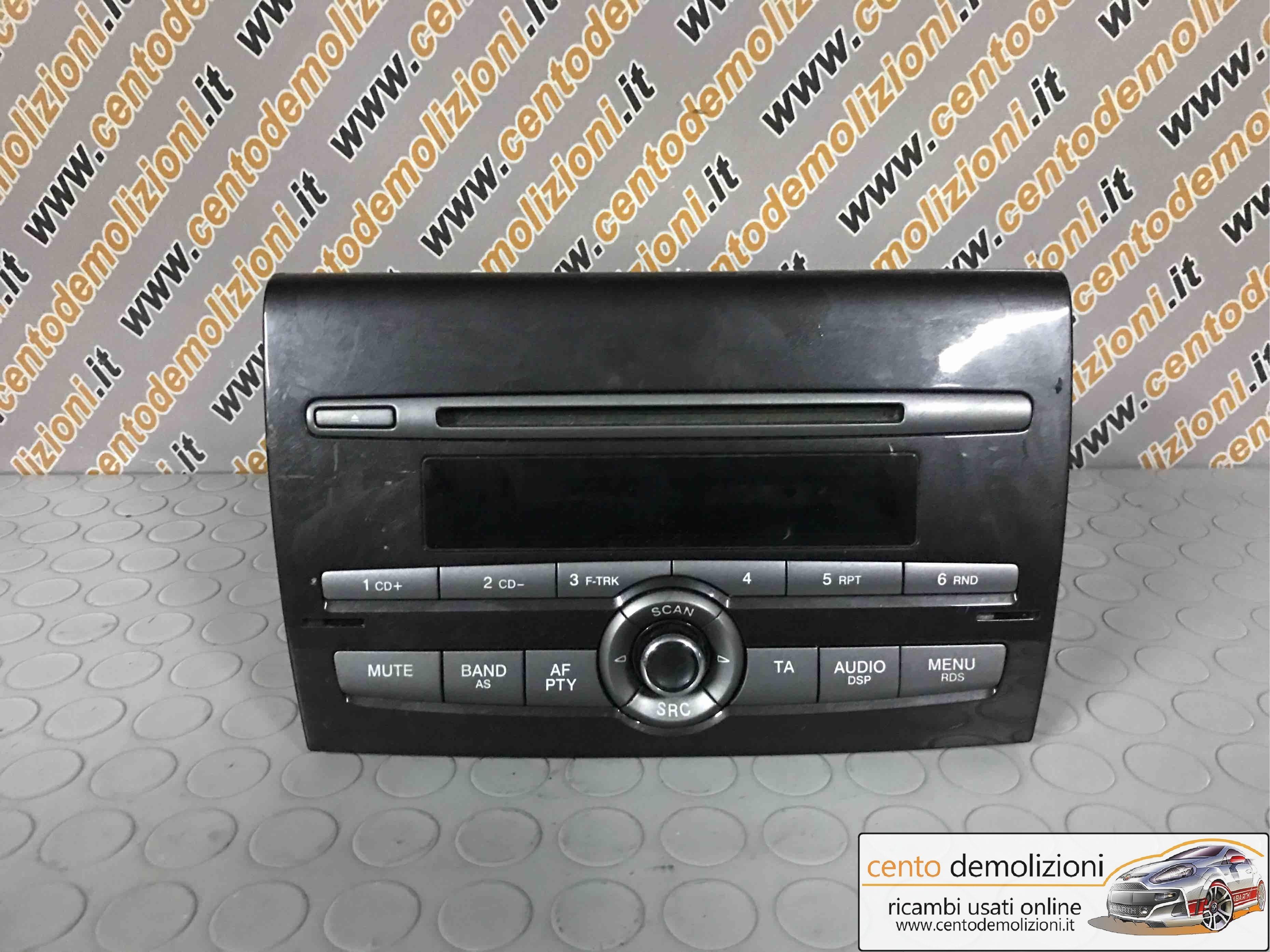 RICAMBI USATI 735451941 AUTORADIO FIAT Bravo 2° Serie 2008 1900