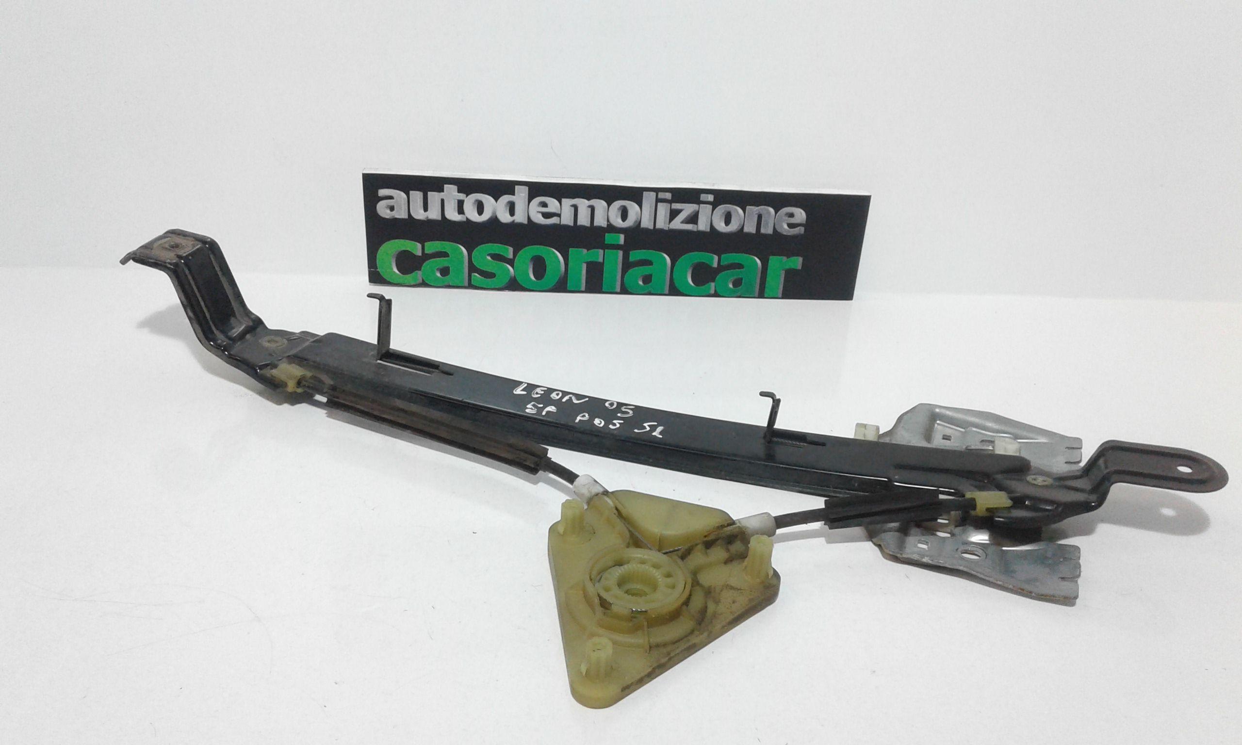 CREMAGLIERA POSTERIORE SINISTRA GUIDA SEAT Leon 2° Serie Benzina  (2005) RICAMBI USATI