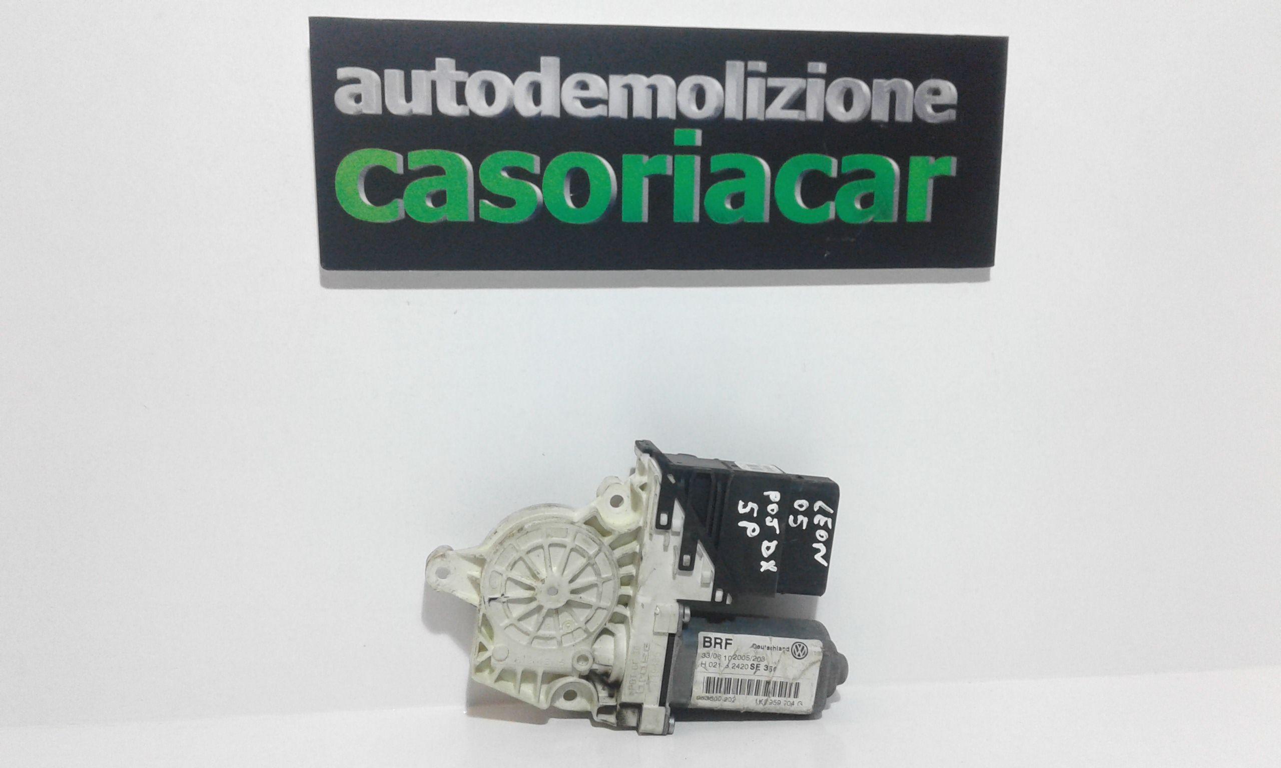 MOTORINO ALZAVETRO POSTERIORE DESTRA SEAT Leon 2° Serie Benzina  (2005) RICAMBI USATI