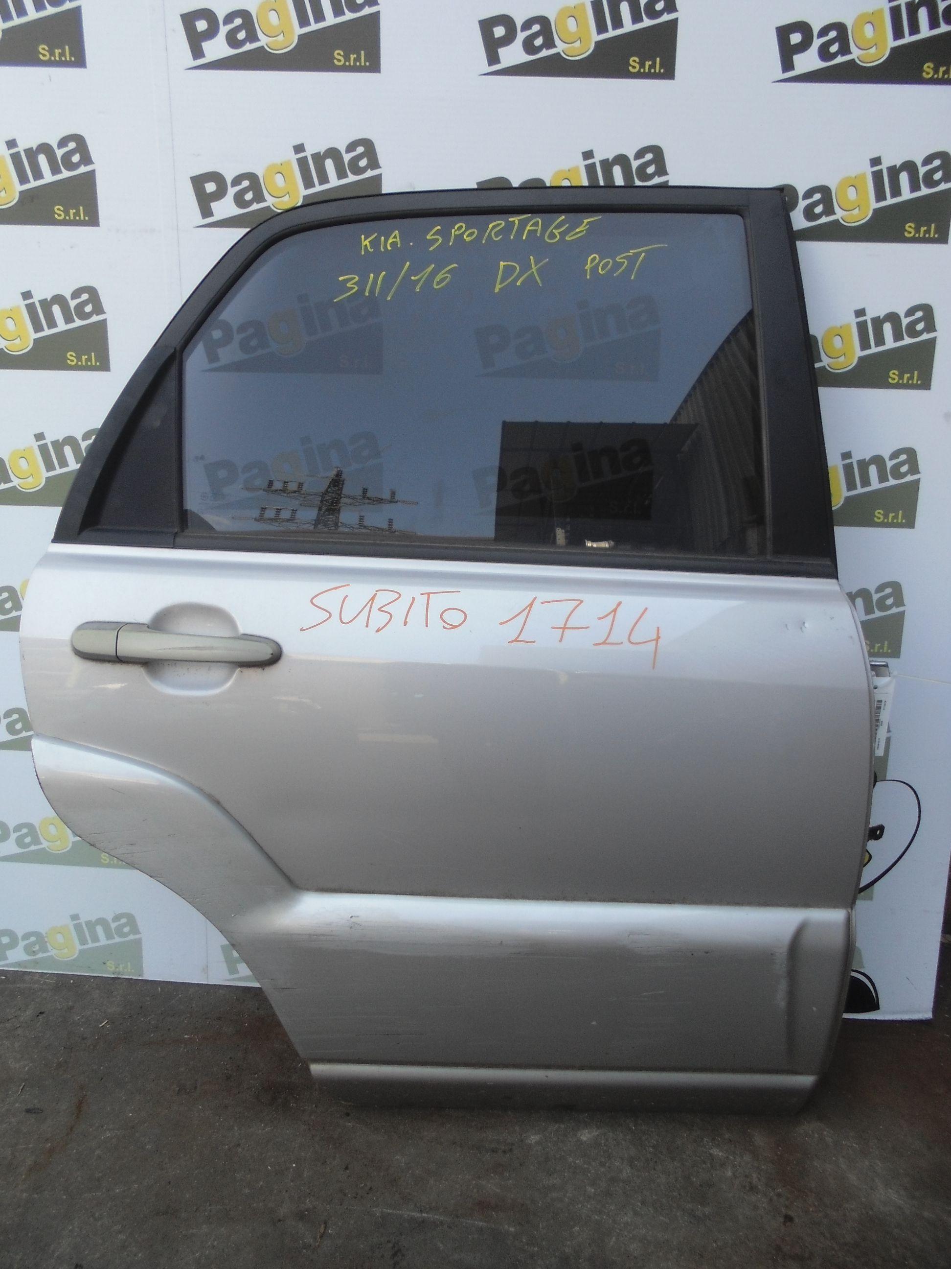 PORTIERA POSTERIORE DESTRA KIA Sportage 3° Serie  Diesel    (2005) RICAMBI USATI