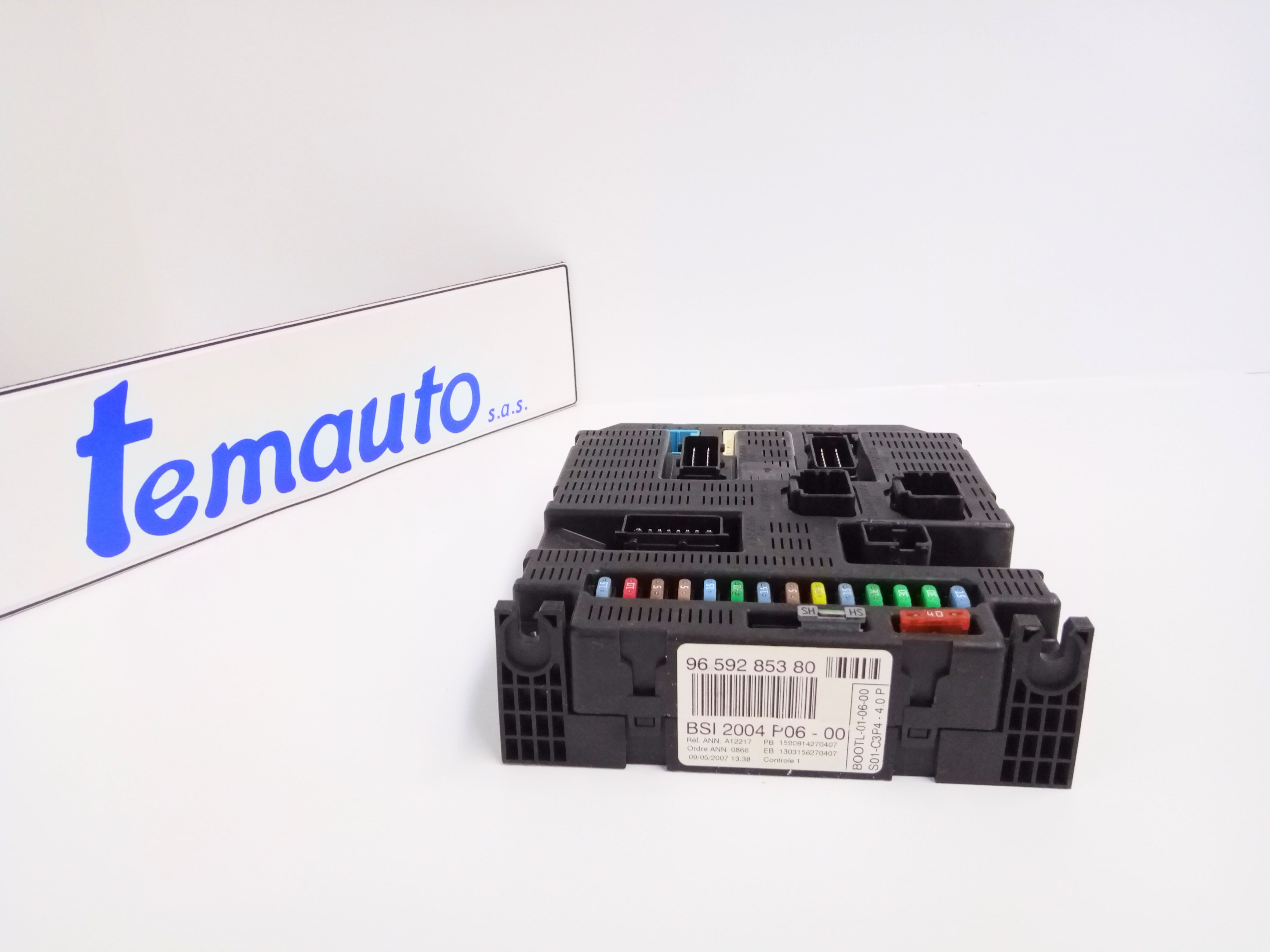 9659285380 BODY COMPUTER PEUGEOT 207 1° Serie 1400 Diesel  (2007) RICAMBI USATI