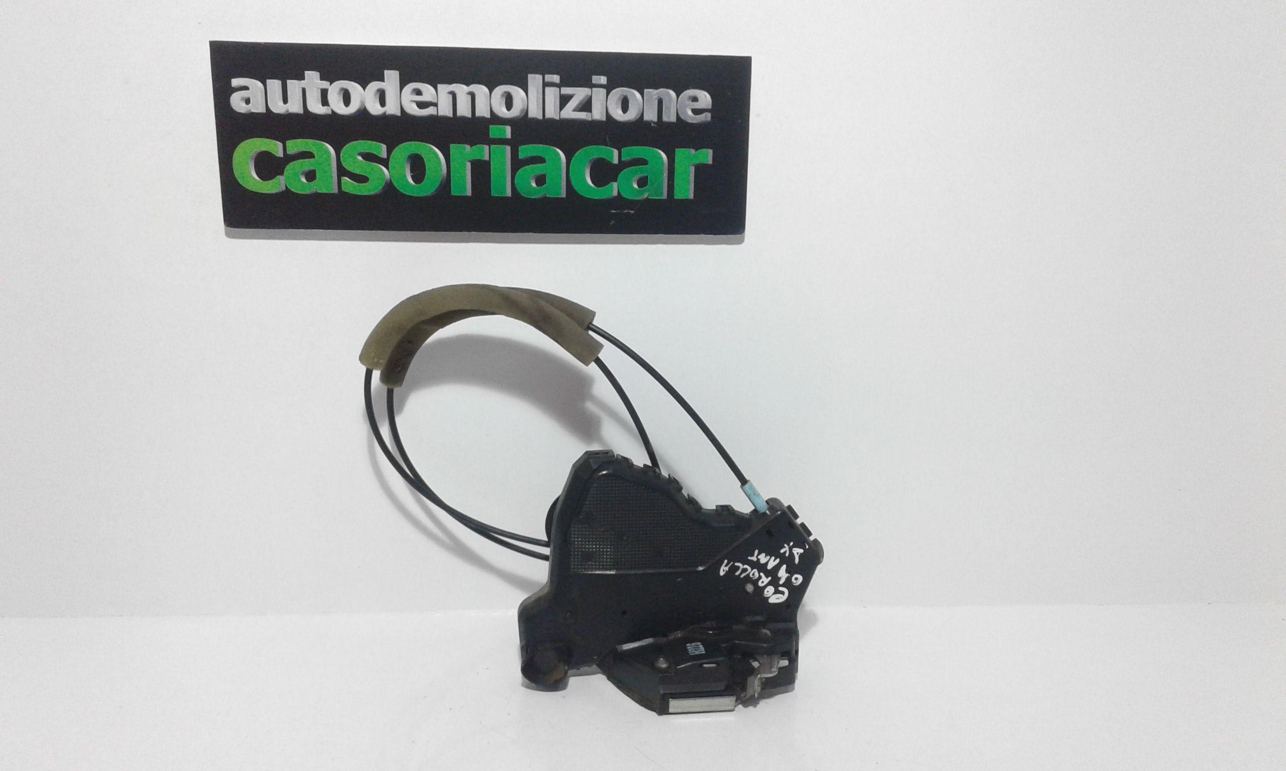 SERRATURA ANTERIORE DESTRA TOYOTA Corolla Berlina 3° Serie 3-5P Benzina RICAMBI USATI