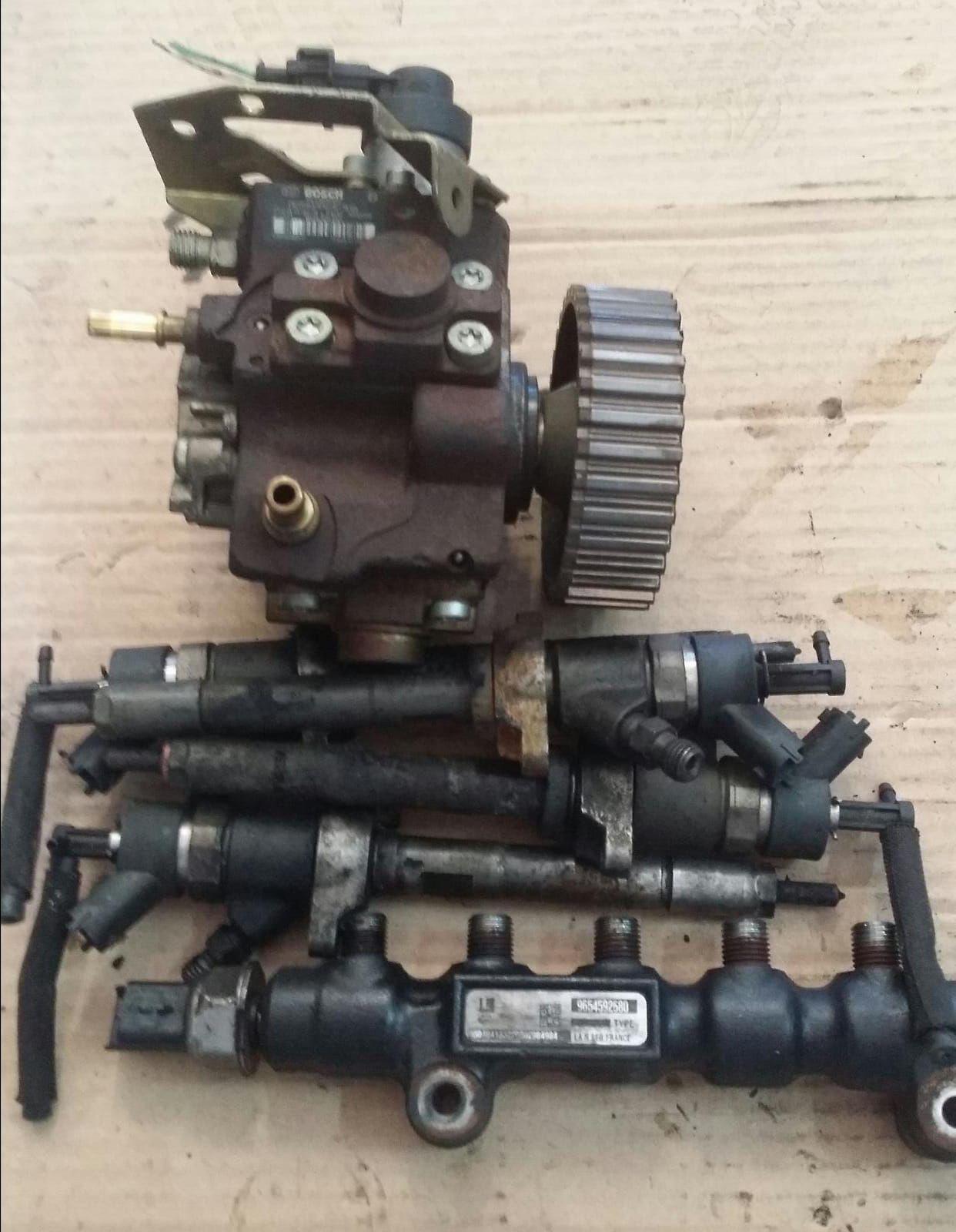 0445010102 KIT POMPA ED INIETTORI PEUGEOT 307 Berlina 2° Serie 1600 Diesel 9hz   (2006) RICAMBI USATI