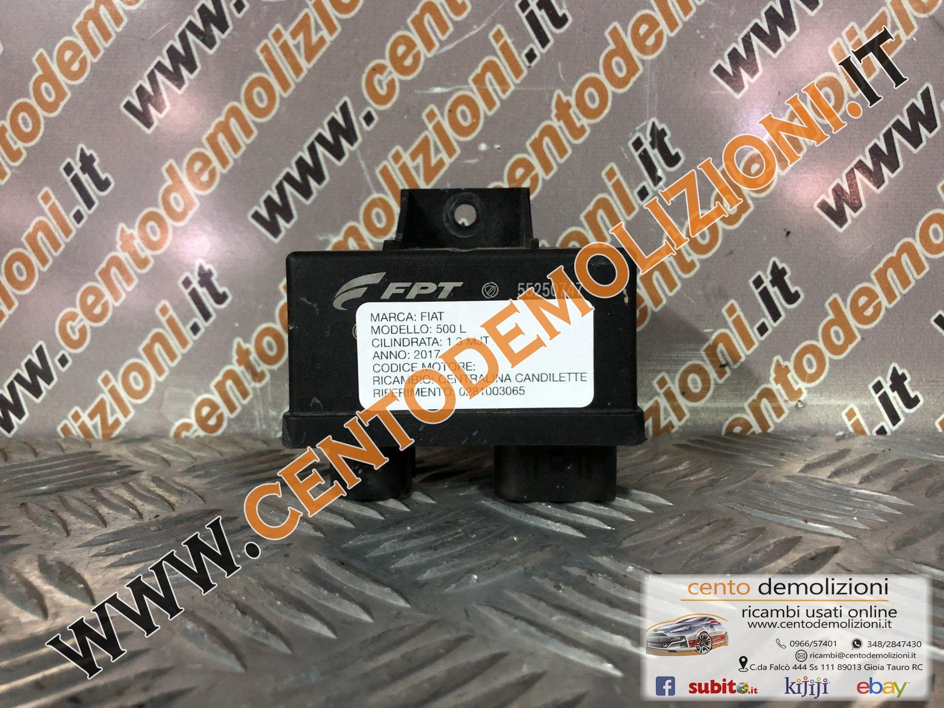 FIAT 500 L tastiera aria a//c centrale ricambio originale usato