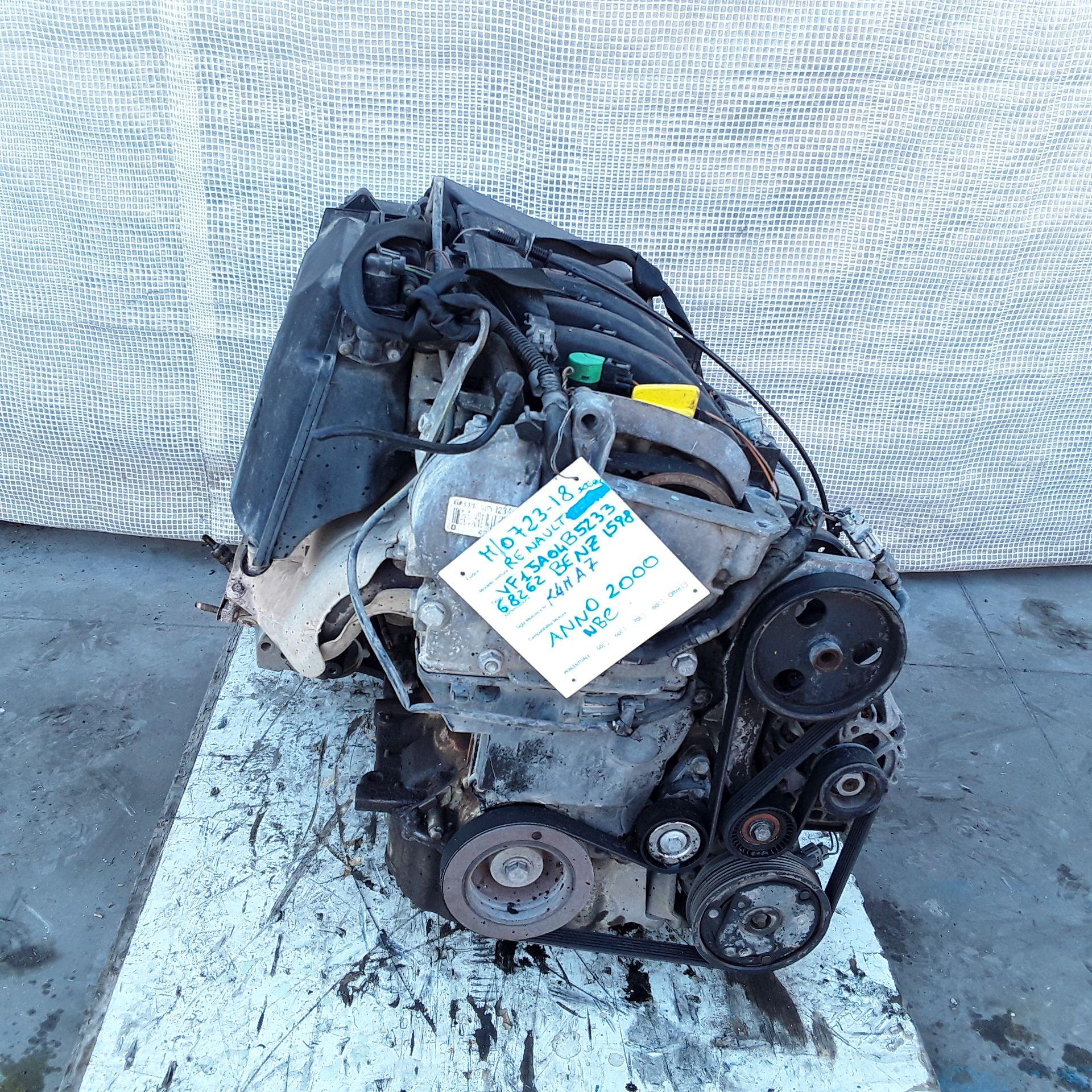 MOTORE COMPLETO RENAULT Scenic Serie (99>03) 1598 Benzina K4ma7 150000 Km  (2000) RICAMBI USATI