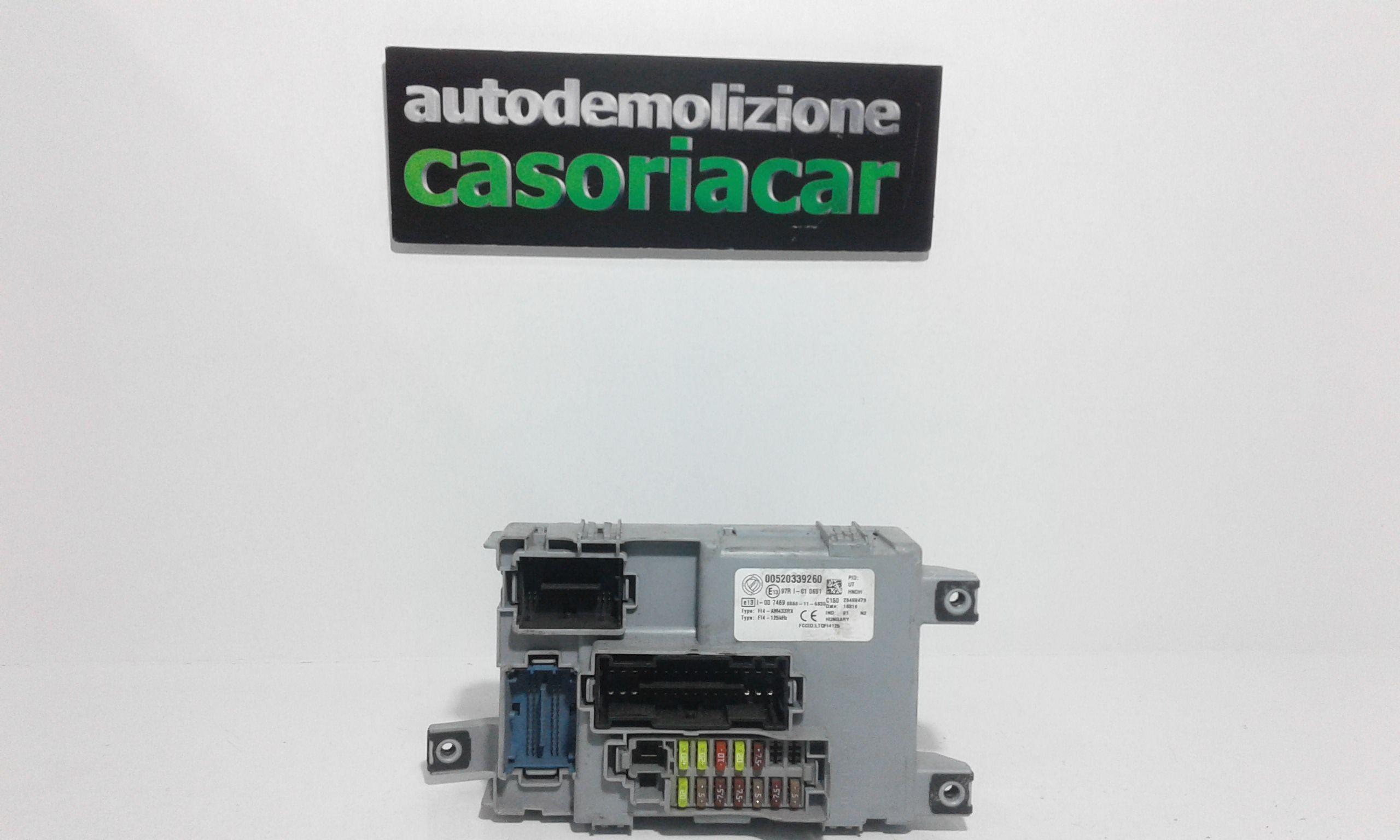00520339260 BODY COMPUTER FIAT Panda 3° Serie 1200 Benzina  (2015) RICAMBI USATI