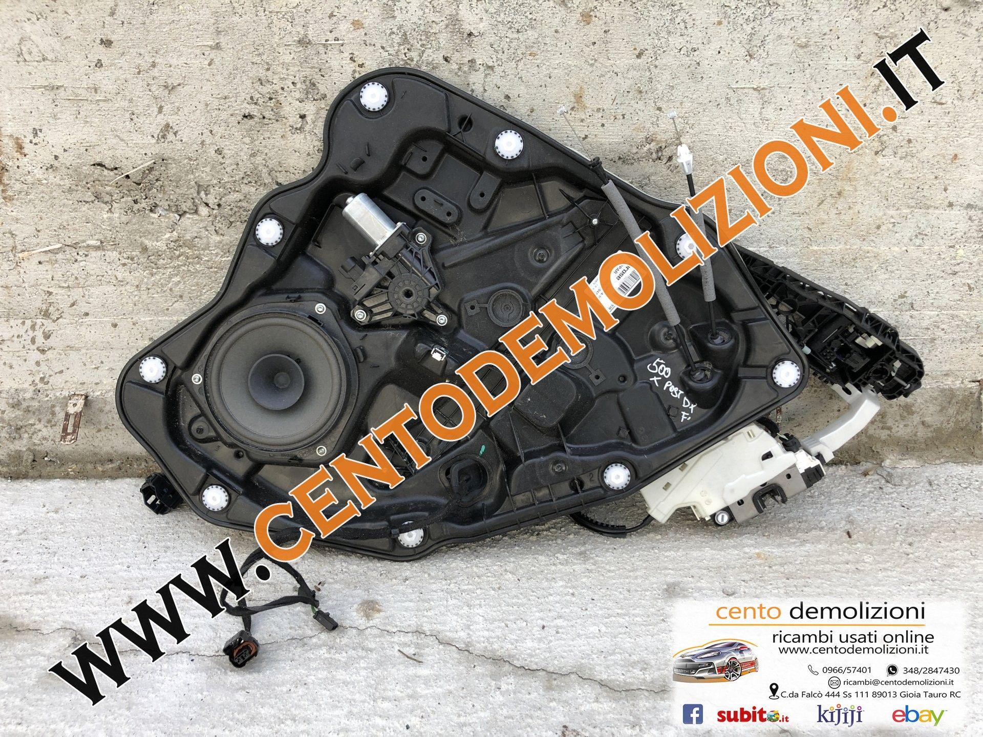 00520704790 MOTORINO ALZAVETRO POSTERIORE DESTRA FIAT 500 X 1° Serie 1300 Diesel  (2017) RICAMBI USATI