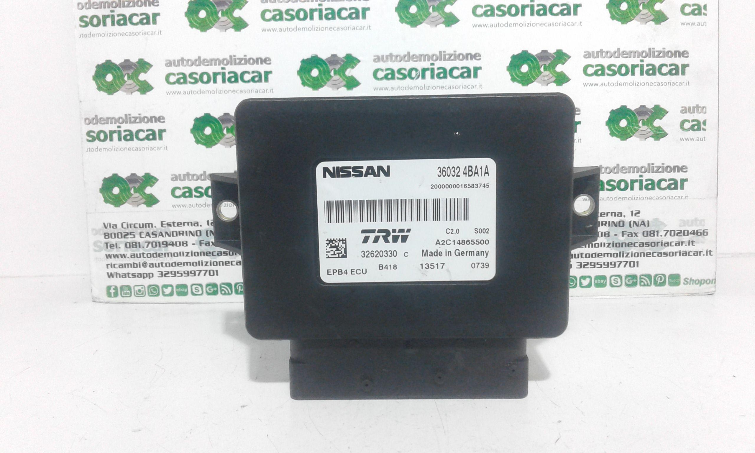 32620330 CENTRALINA PARK ASSIST NISSAN Qashqai Serie 1500 Diesel k9k (2017) RICAMBI USATI