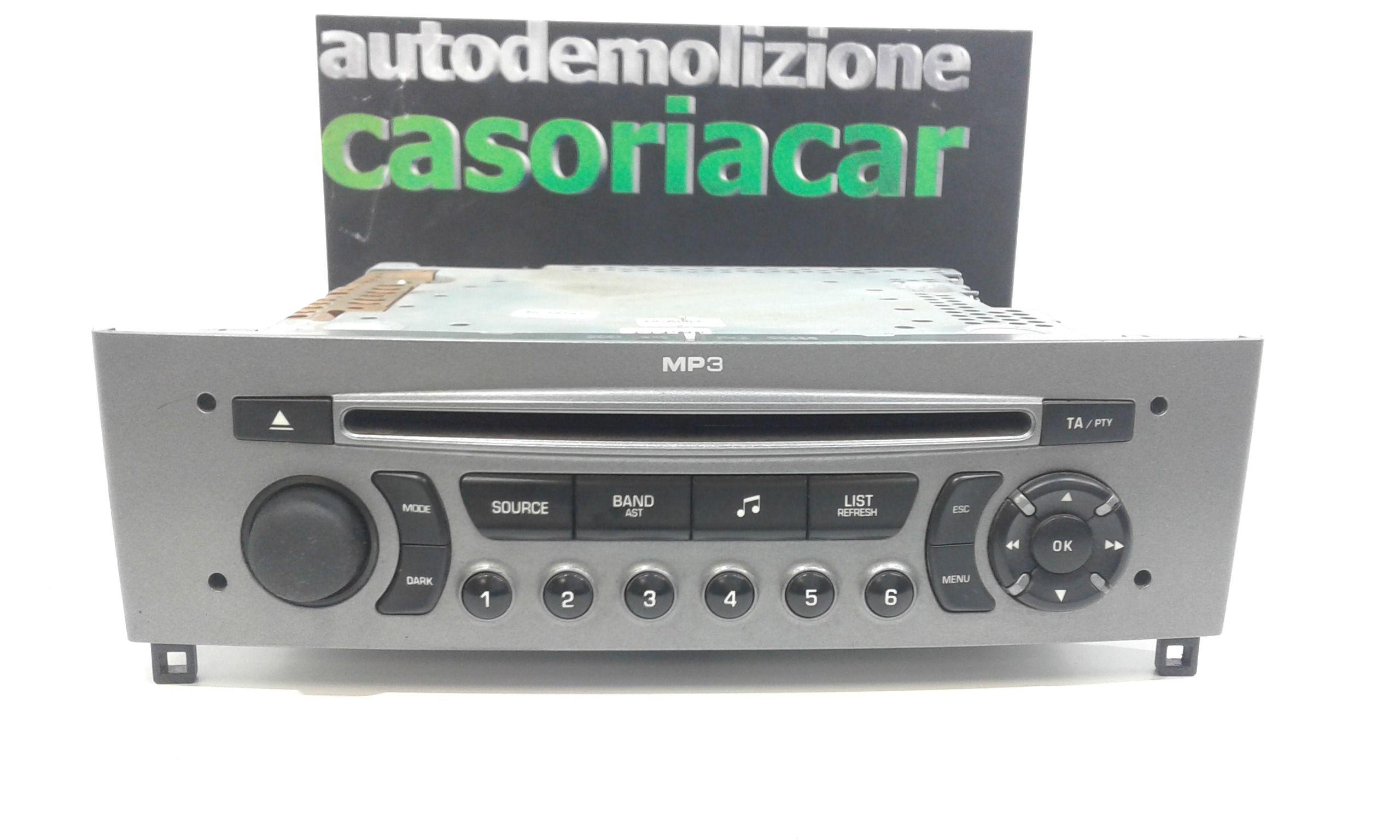 AUTORADIO MP3 PEUGEOT 308 1° Serie Benzina  (2009) RICAMBI USATI
