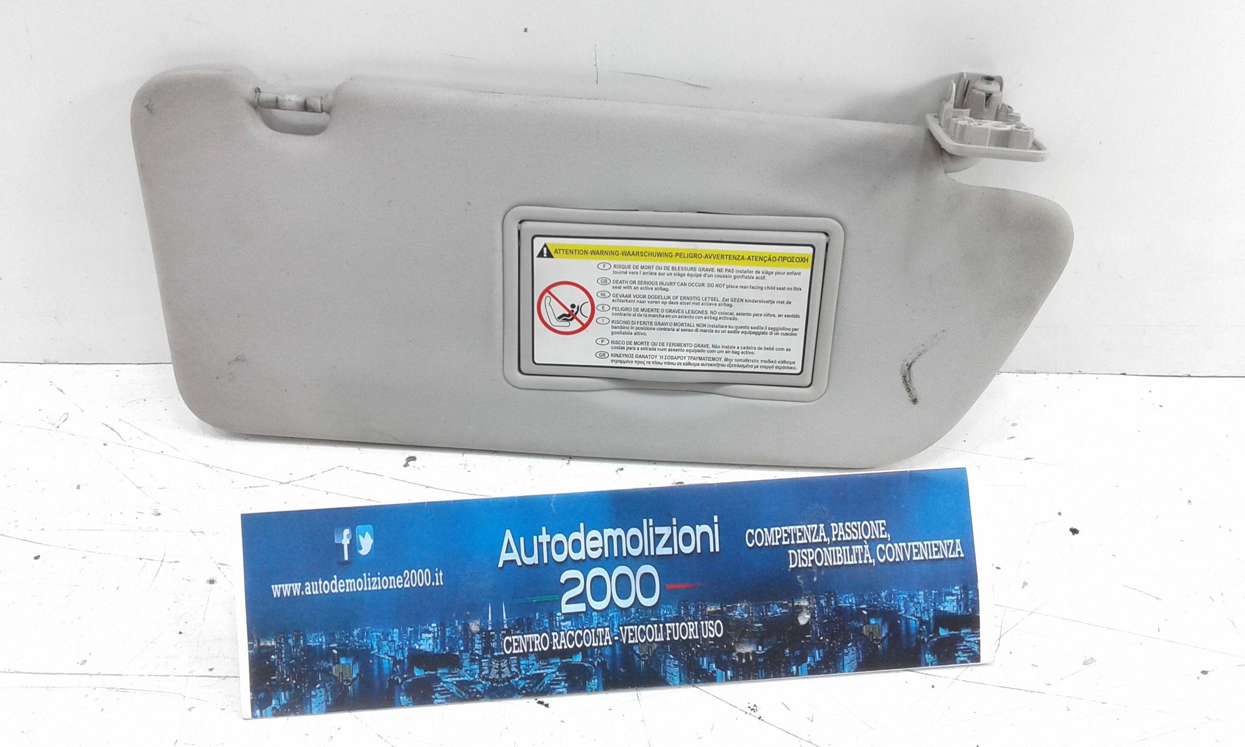 PARASOLE ALETTA LATO PASSEGGERO PEUGEOT 308 1° Serie  Benzina    (2010) RICAMBI USATI