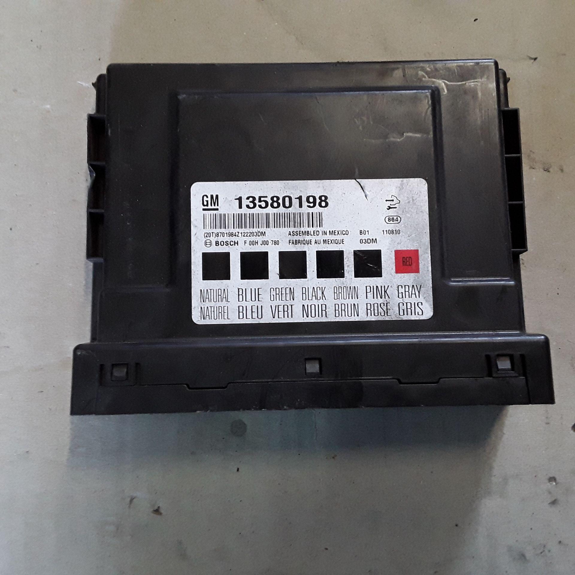 13580198 BODY COMPUTER OPEL Insignia S. Wagon 2000 Diesel    (2010) RICAMBI USATI