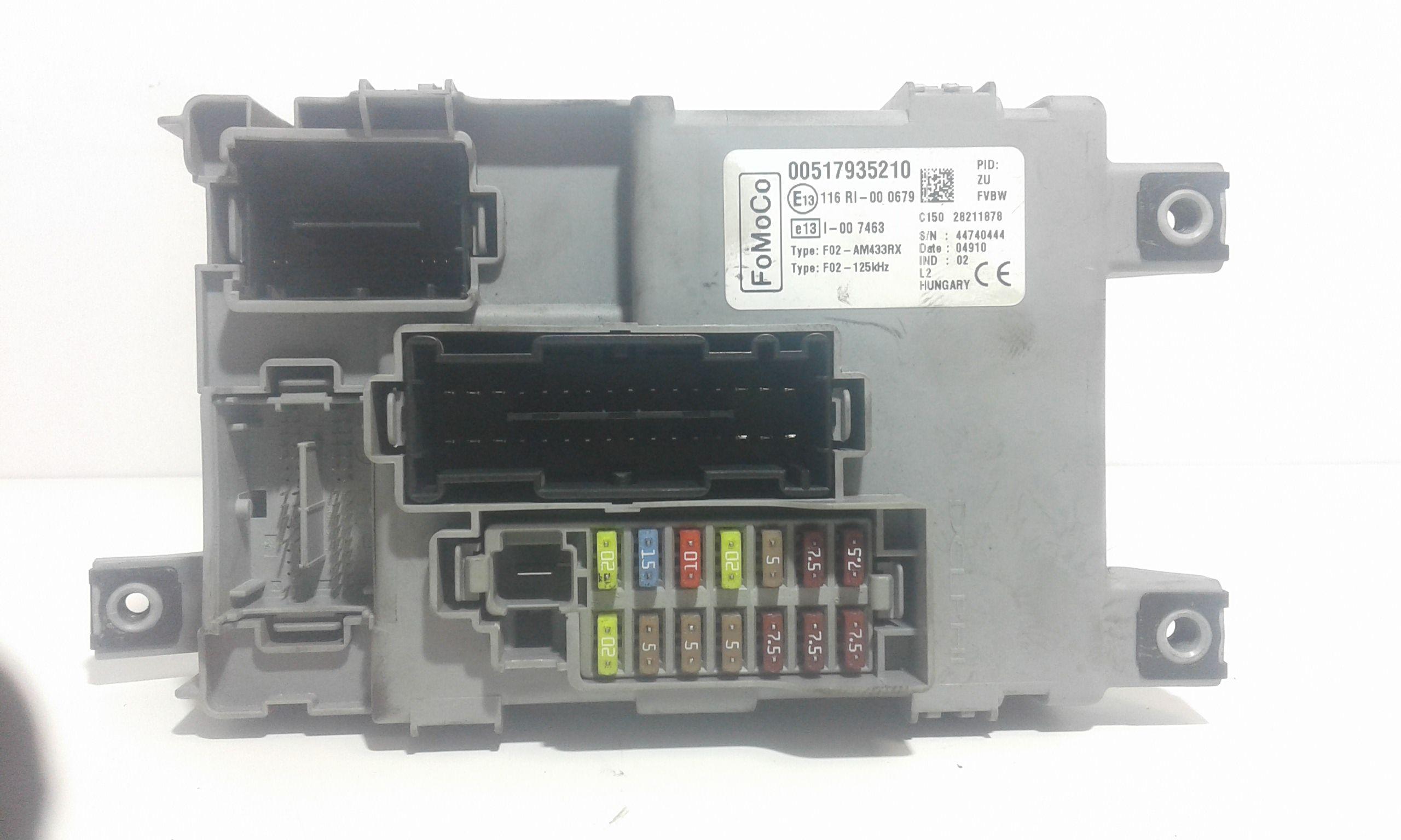 116RI000679 BODY COMPUTER FORD Ka Serie (CCU) (08>18) 1200 Benzina    (2009) RICAMBI USATI