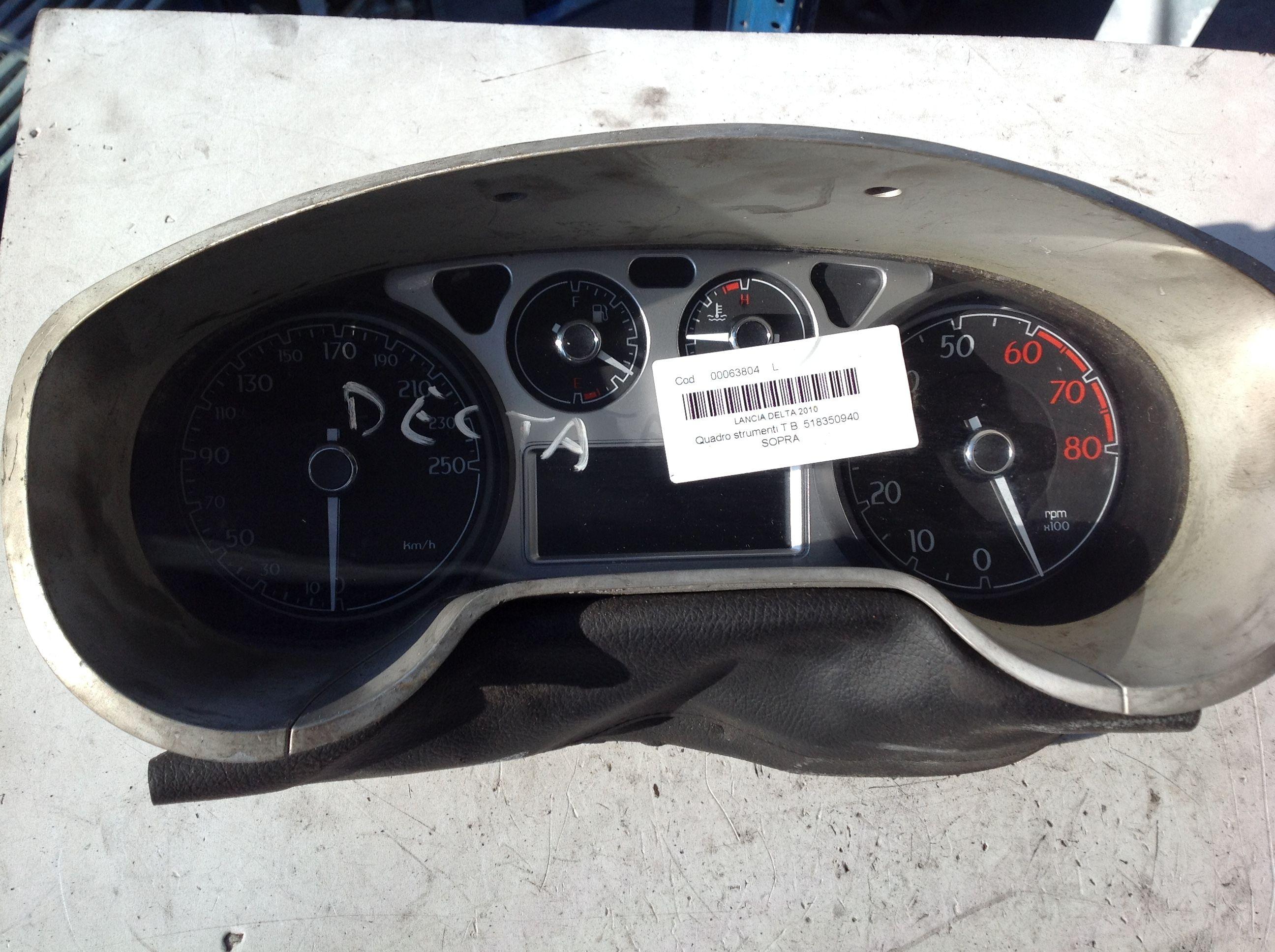 518350940  503005080301 QUADRO STRUMENTI LANCIA Delta 4° Serie  Benzina    (2012) RICAMBI USATI