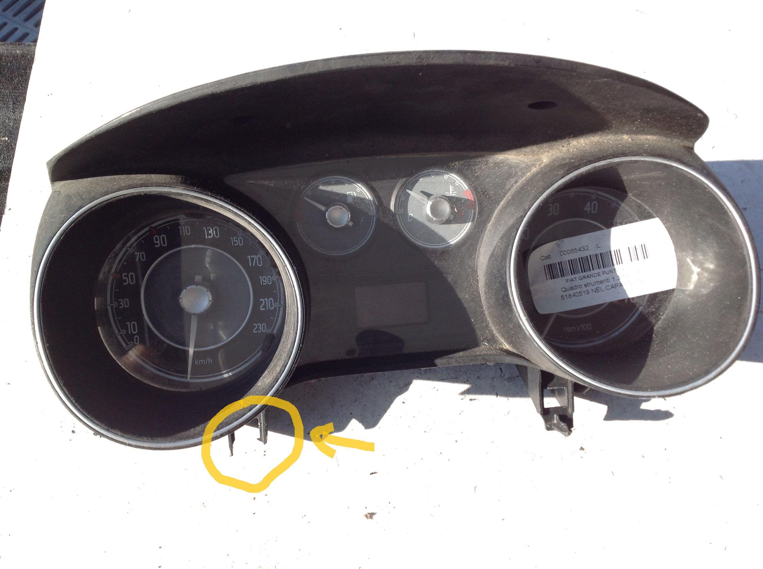 51840519 QUADRO STRUMENTI FIAT Punto EVO  Diesel    () RICAMBI USATI