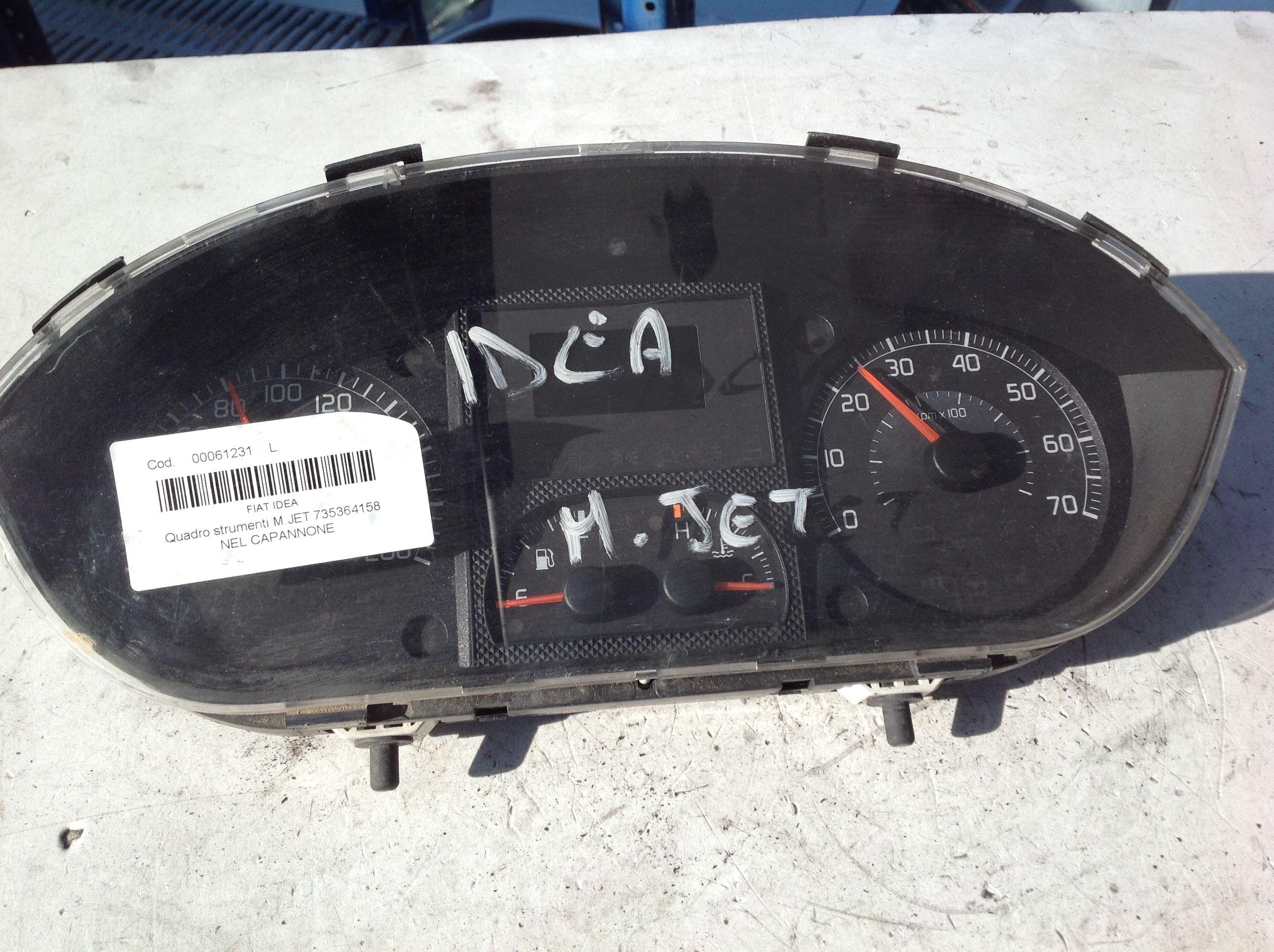 735364158 QUADRO STRUMENTI FIAT Idea 2° Serie  Diesel    () RICAMBI USATI