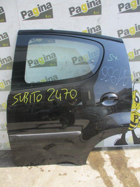 PORTIERA POSTERIORE SINISTRA PEUGEOT 107 1° Serie Benzina  (2008) RICAMBI USATI