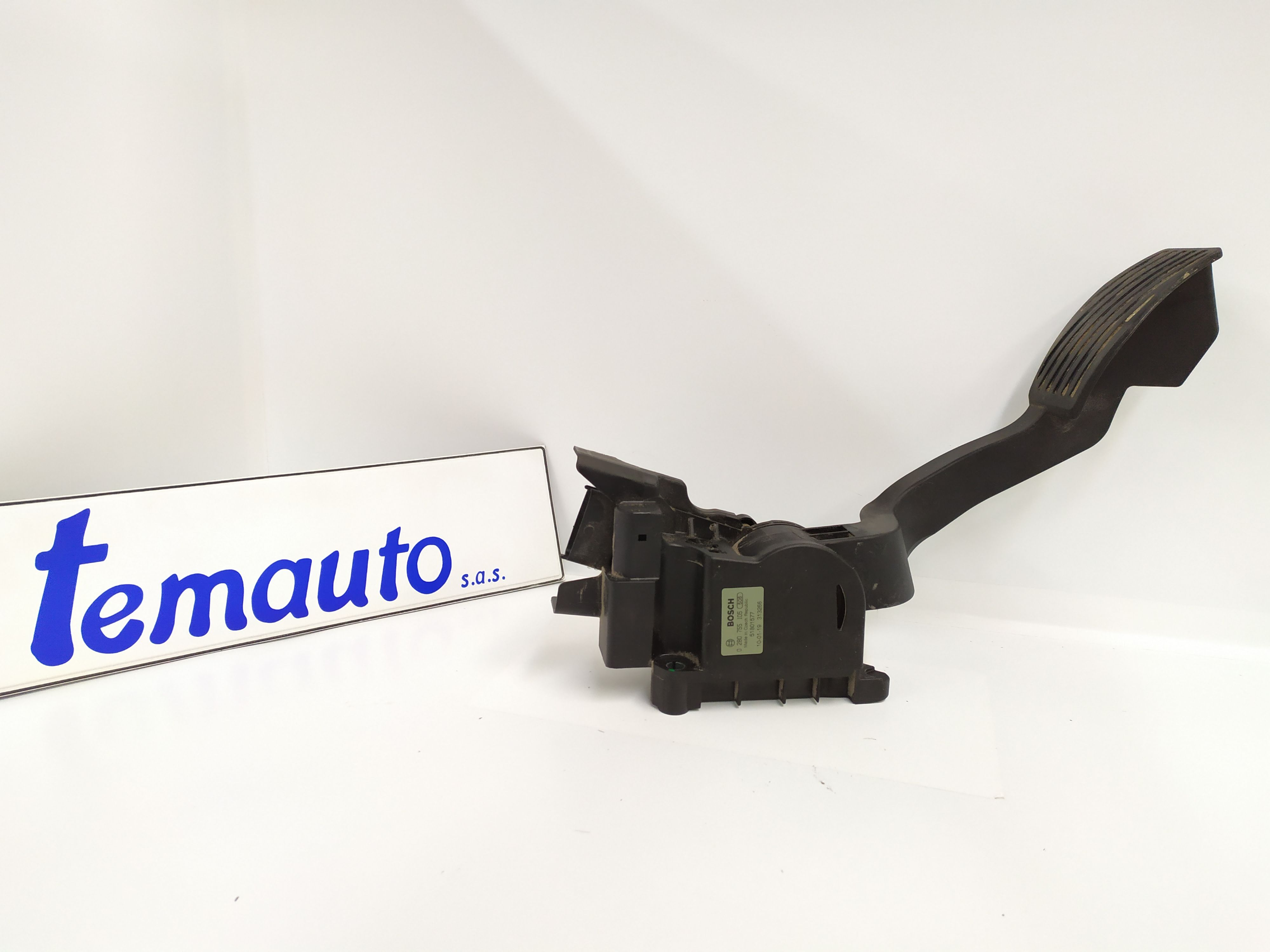 0280755105 PEDALE ACCELERATORE FIAT Fiorino 2° Serie 1400 Bipower    (2010) RICAMBI USATI