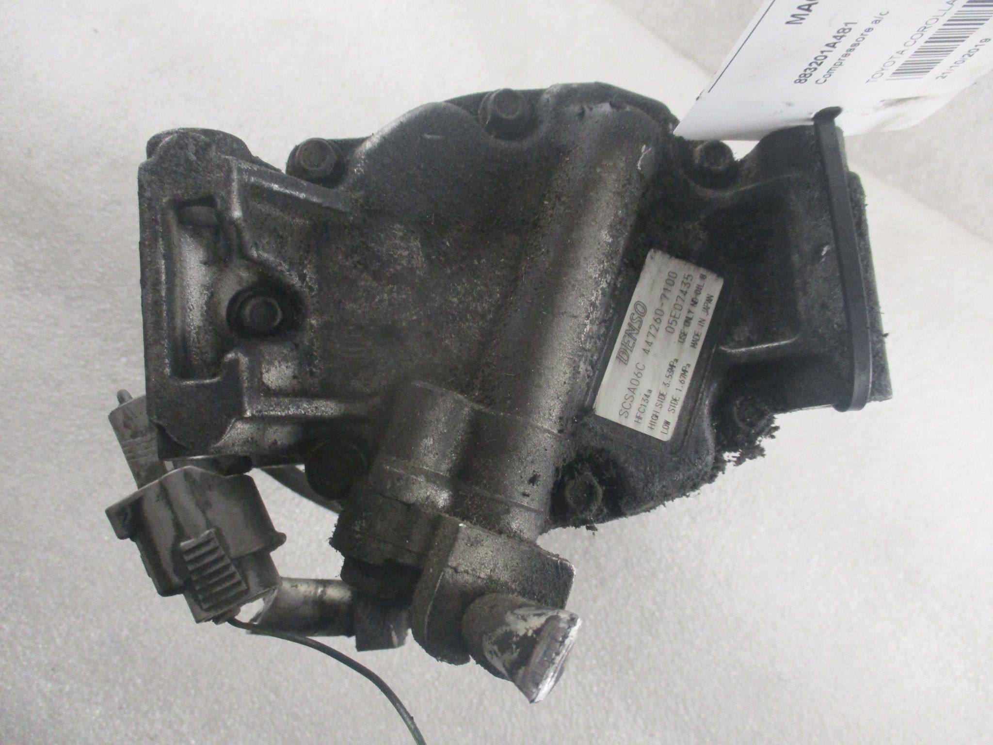 1CDFTV 2.0 D-4D 447260-7100 COMPRESSORE A/C TOYOTA Corolla Berlina 3° Serie 3-5P 1995 Diesel 1CDFTV 66 Kw  (2003) RICAMBI USATI
