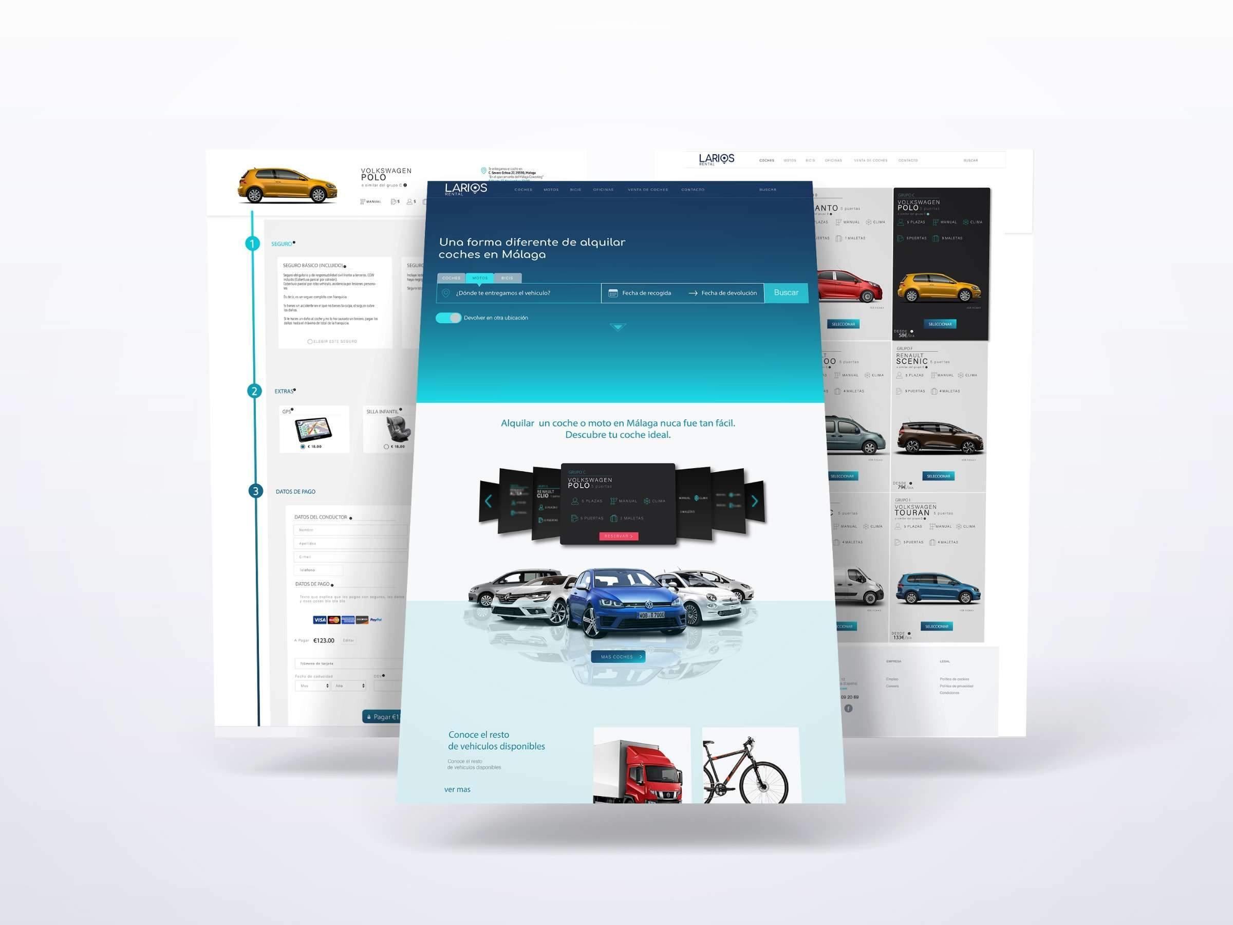 Diseño web Larios Rental