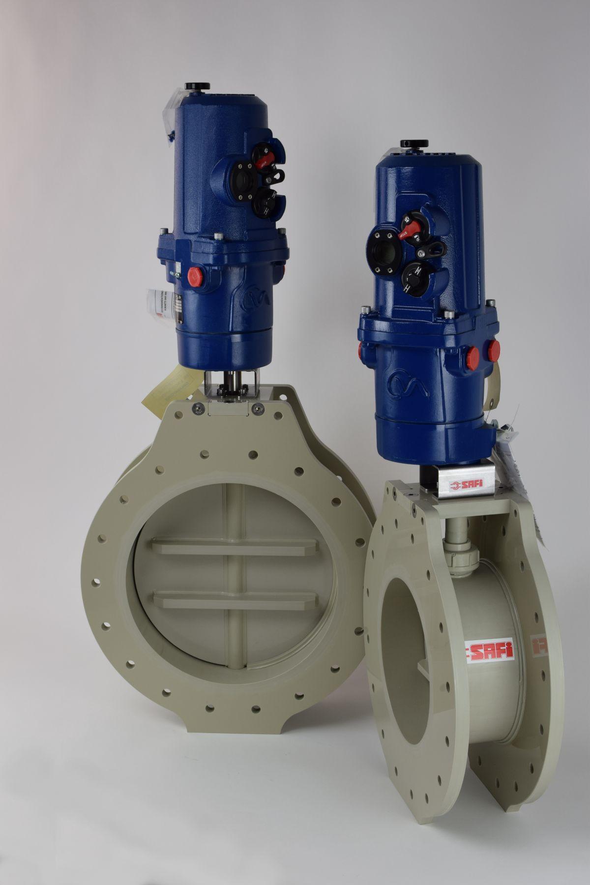 Registres de ventilation en PP-H avec motorisation spécifique