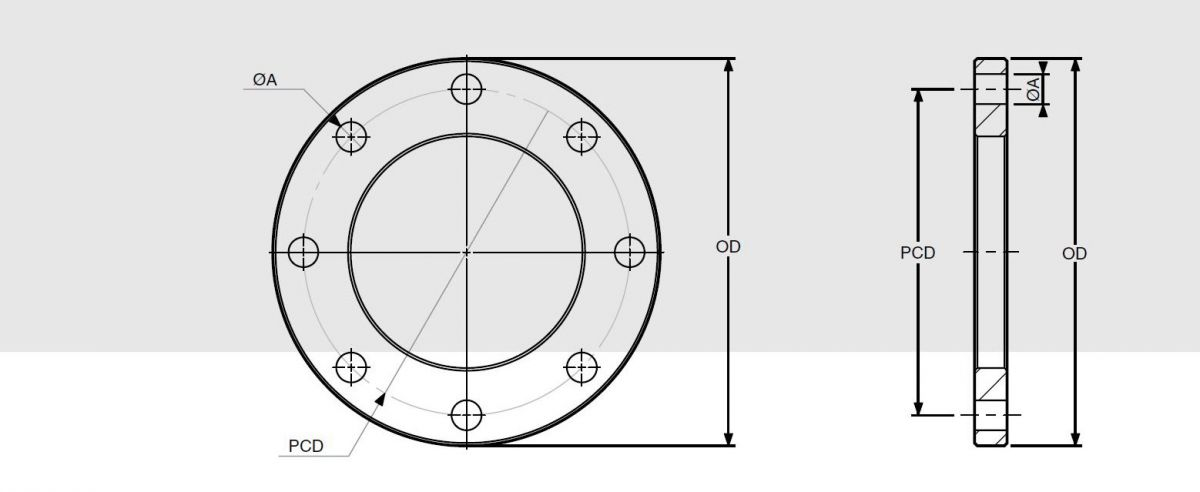 Dimensions de brides - flanges dimensions
