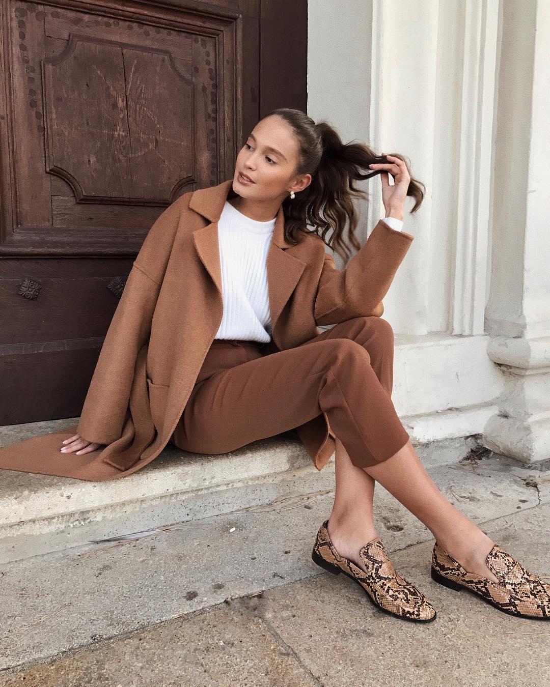 coat with patch pockets de Zara sur majamarko7