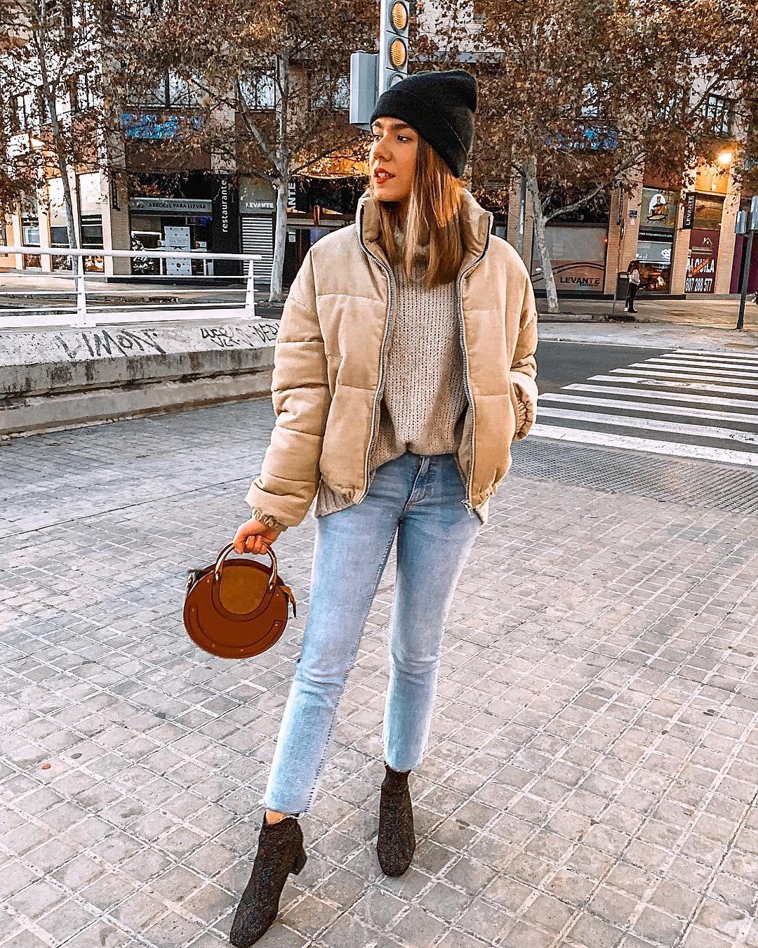oversize padded jacket de Zara sur amparocamo