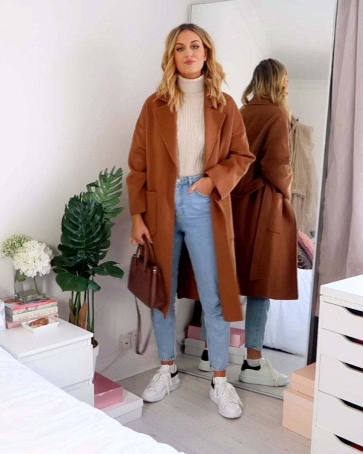 coat with patch pockets de Zara sur katherine_bondd