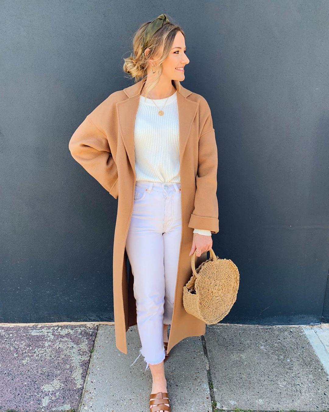 coat with patch pockets de Zara sur itsemilyjames