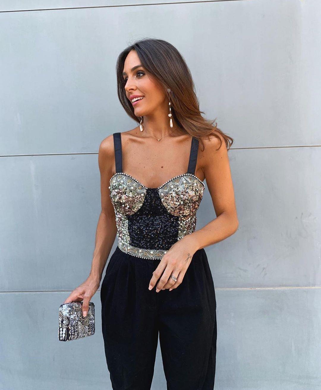 glitter short top de Zara sur zarastreetstyle
