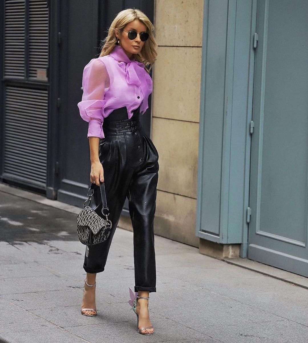 organza blouse with bow de Zara sur zarastreetstyle