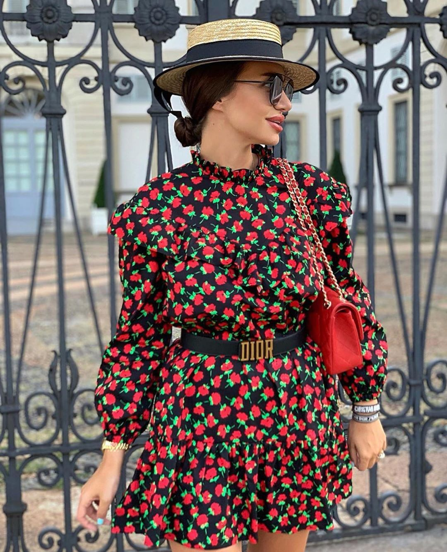 short dress with ruffles de Zara sur zarastreetstyle