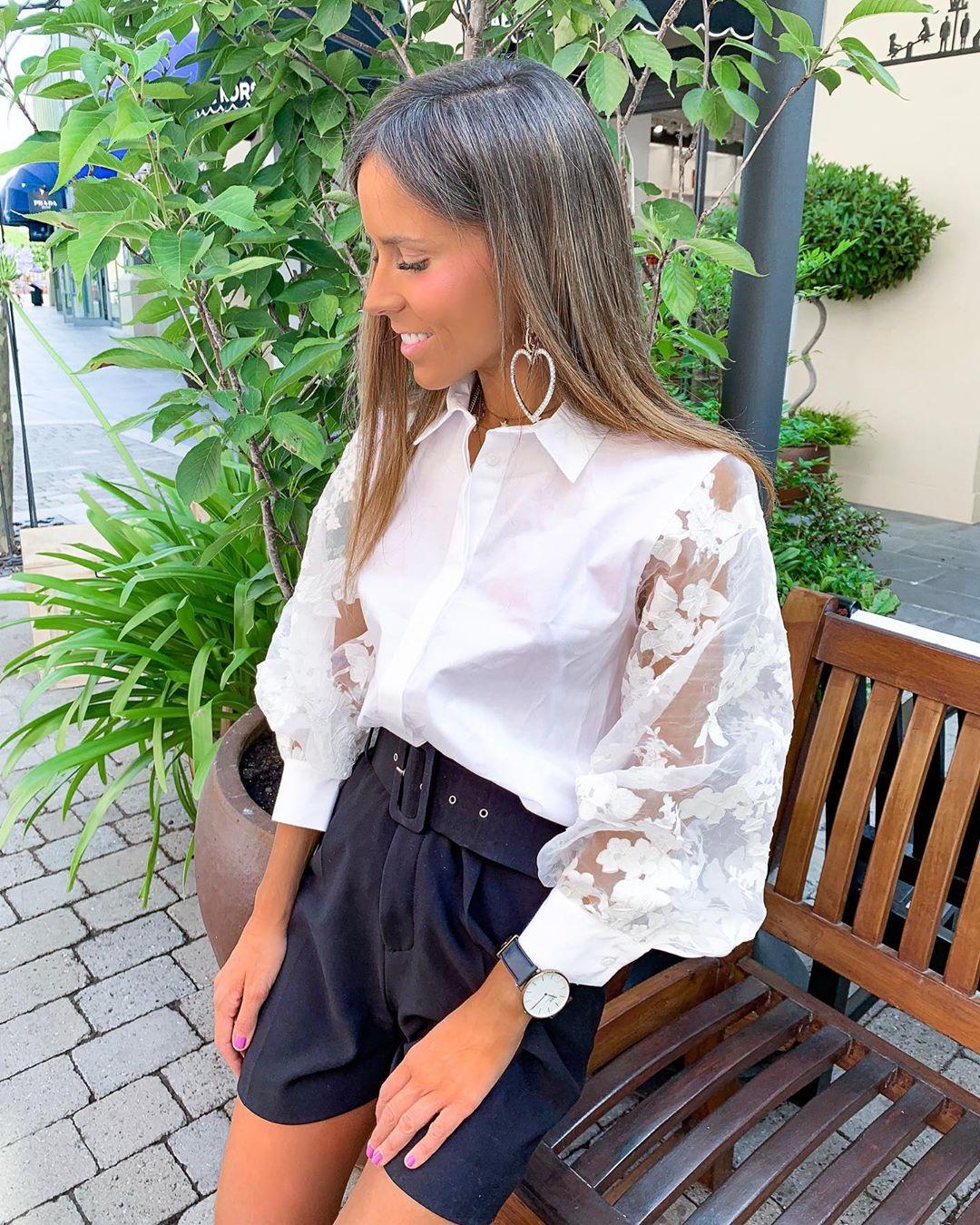 shirt with organza sleeves de Zara sur isa_gme