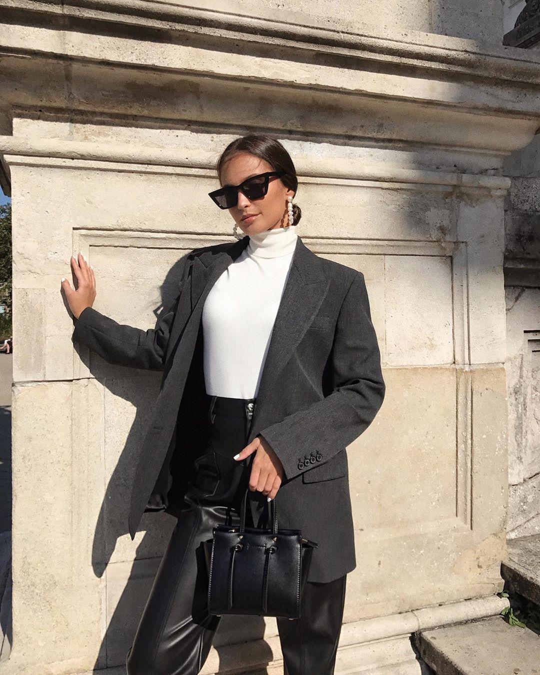 leather-effect trousers de Zara sur majamarko7