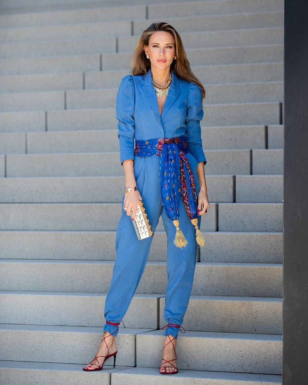 combinaison longue avec ceinture de Zara sur alexandralapp_