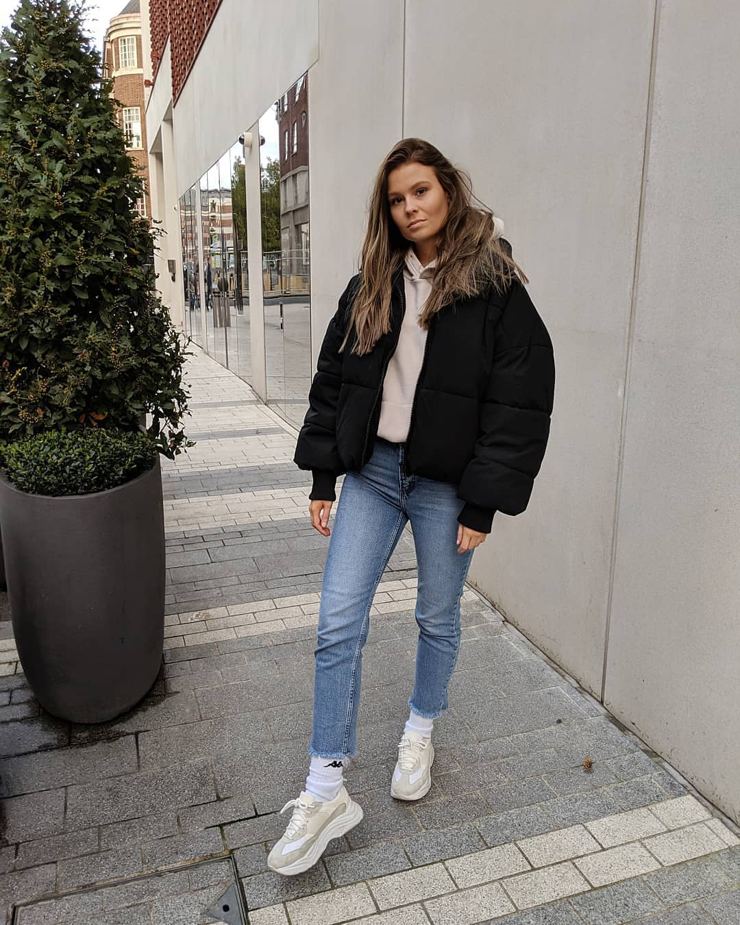oversize padded jacket de Zara sur aineenestor
