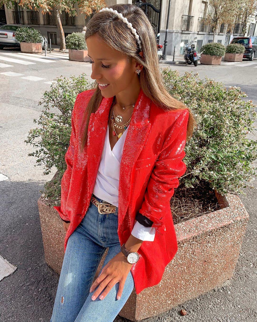 sequined jacket de Zara sur isa_gme