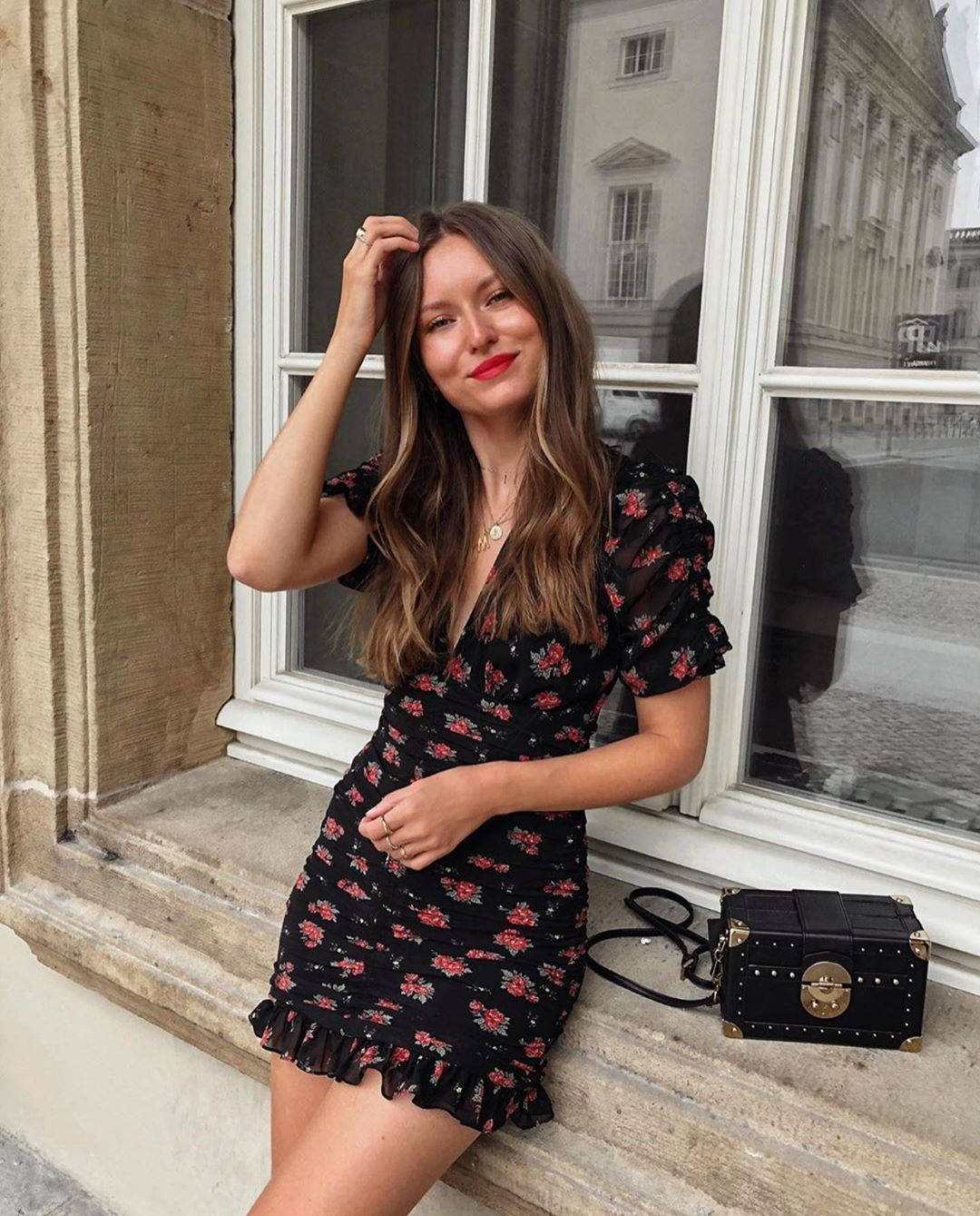 printed and draped dress de Zara sur zarastreetstyle