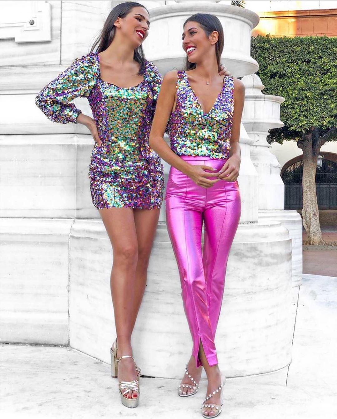 robe à paillettes multicolore de Zara sur zara.outfits