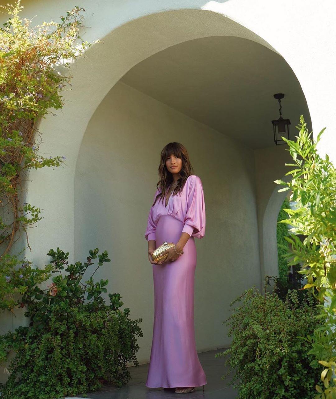 robe satinée de Zara sur zara.mania