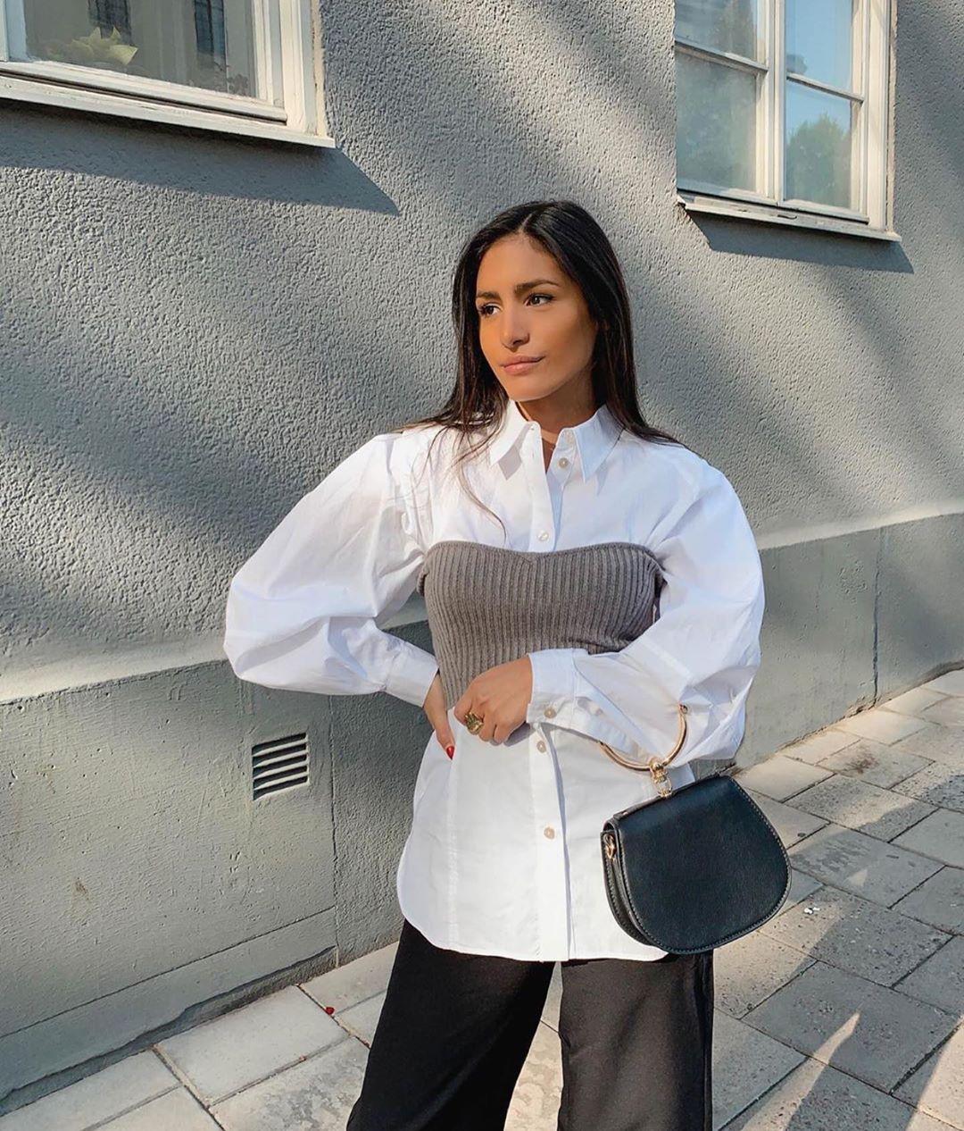 short knit top de Zara sur zarastreetstyle
