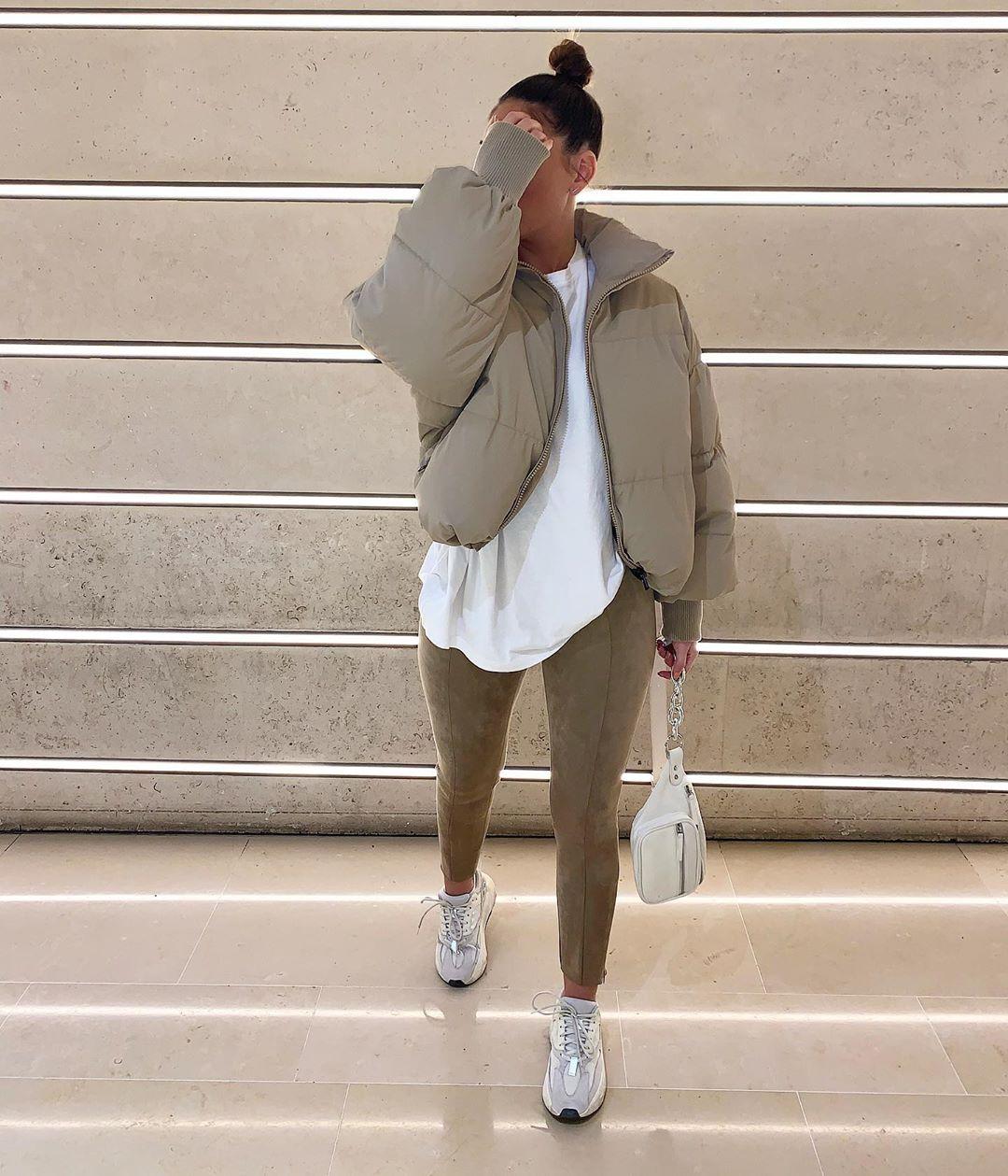 oversize padded jacket de Zara sur instanoface