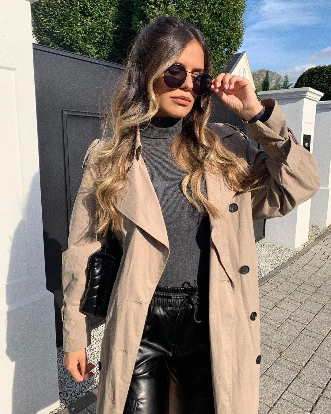 fluid trench coat with pockets de Zara sur ezgilkyaz